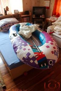 Our escape raft