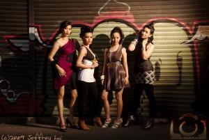 Graffiti Wall Group Shot