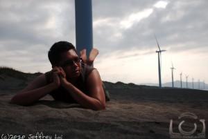 Leon at the Bangui Windfarm