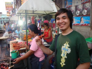Barbecue and Kwek Kwek in Laoag