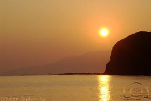 Golden Sunrise at the Blue Lagoon