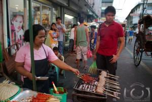 Barbecue and Kwek Kwek at the Laoag Market