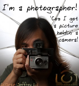 'Coz I got a picture holdin' a camera!