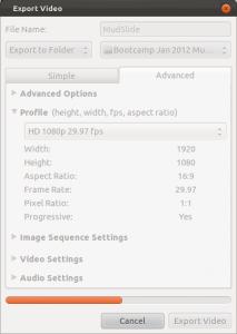 Export Video in OpenShot