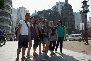 In front of the Binondo Church